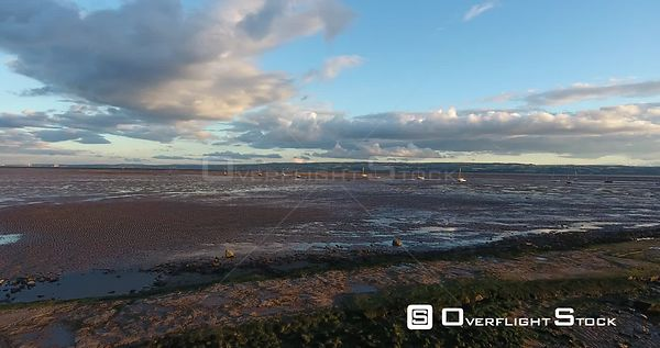 Sailing Boats at Low Tide River Dee Thurstason UK