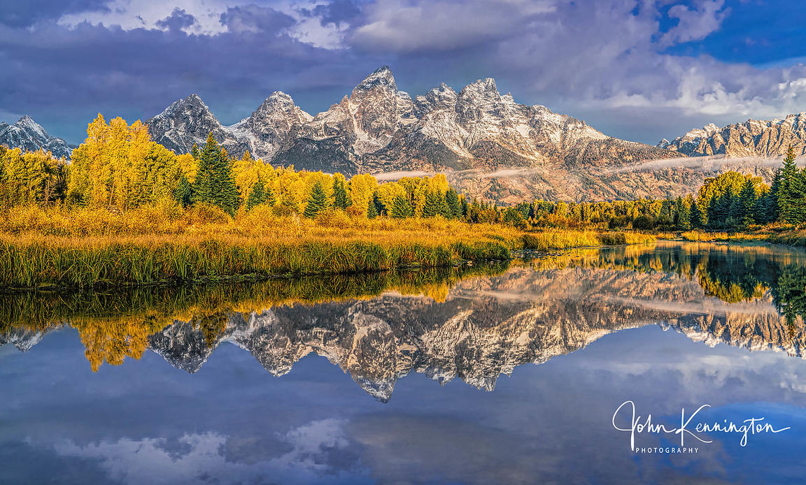 Morning Light at Schwabachers Landing, Grand Teton National Park, Wyoming