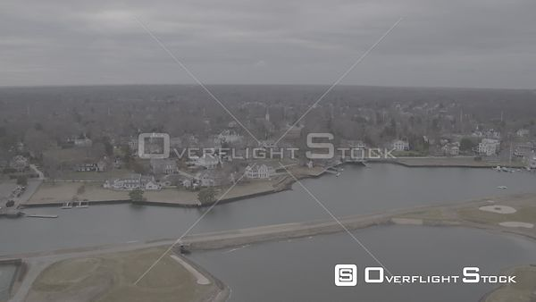 Drone Video Southport Harbor Fairfield Connecticut - V-Log