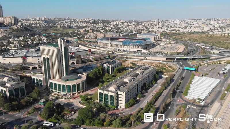 Jerusalem Cityscape with Teddy Stadium. Israel