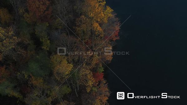 Fall Colors Around a Peaceful Lake, Owings Mills, Maryland, USA
