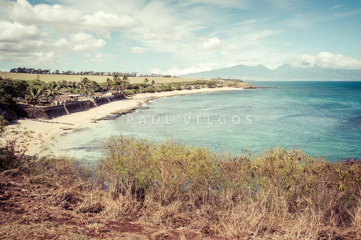 Maui Hookipa Beach Park Paia Hawaii Retro Photo