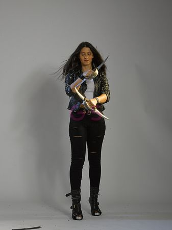 Brunette with Weapon