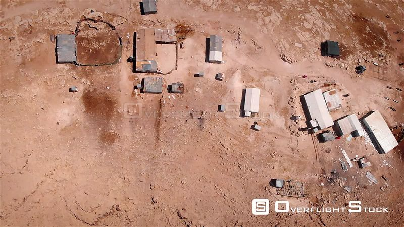 Bedouin Outpost Close to Israeli City Maale Adumim Aerial