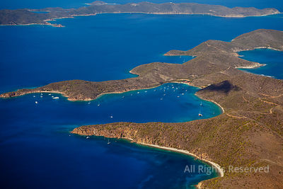 Normand Island and its Bay ¨The Bight ¨ British Virgin Islands Caribbean
