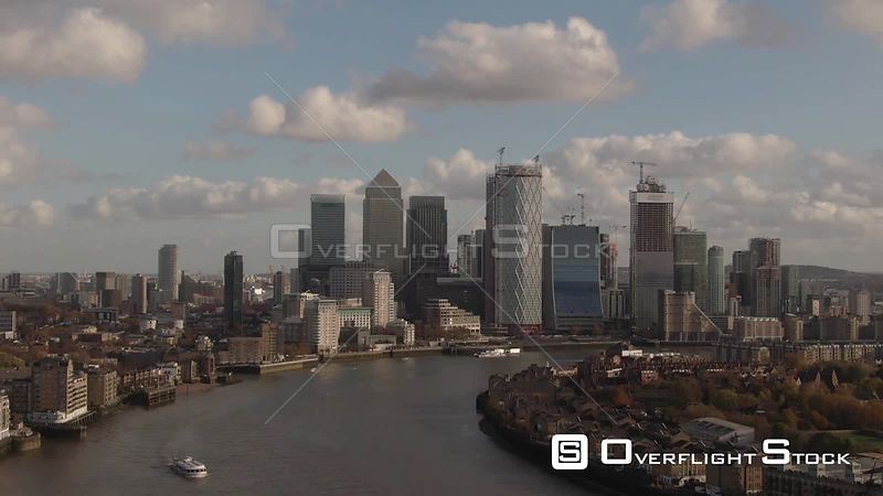 Financial District of the Docklands in London England
