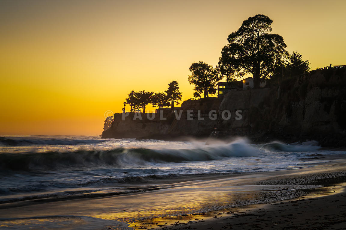 Capitola California Hooper Beach at Sunset Photo