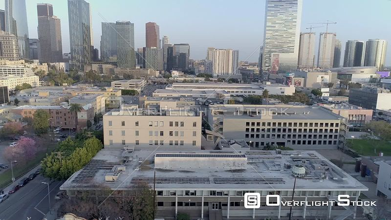 Drone Video Loyola Law School Downtown Los Angeles