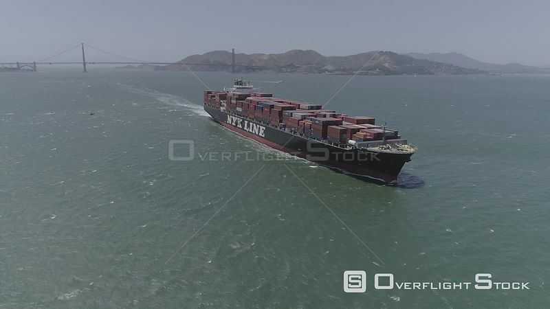 Freighter Leaving San Francisco