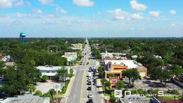 Aerial video 4th Street North St Petersburg Florida USA 4k