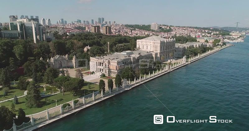 Aerial View of Dolmabahce Palace Istanbul Turkey