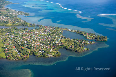 Tahiti Residential Area Tropical Islands of French Polynesia