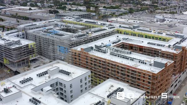 Apartment Complex Los Angeles at Culver City California Drone Aerial View