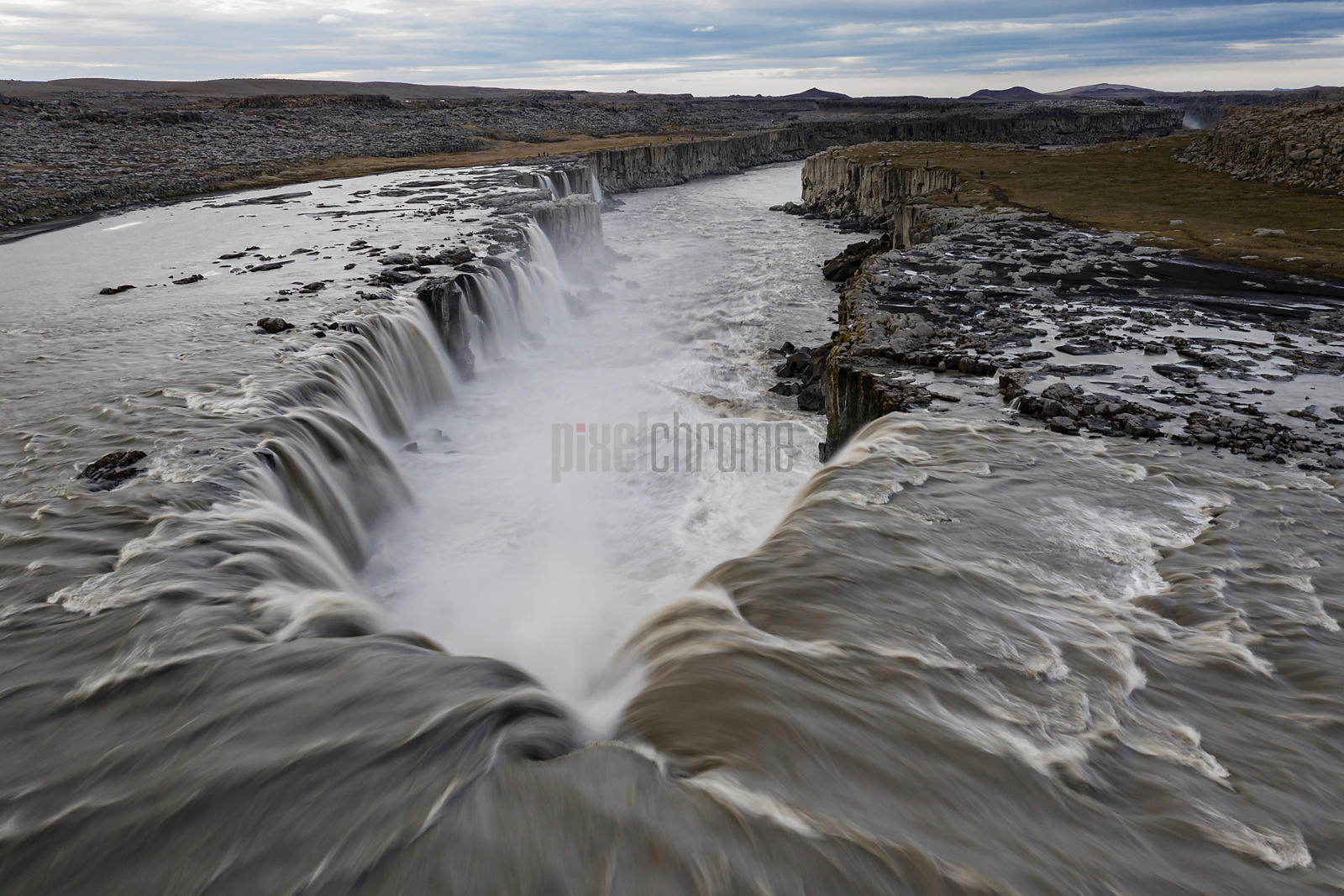 View of Selfoss Looking Down River