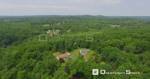 Suburb of Danbury Connecticut Drone View