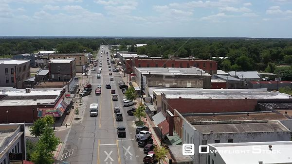 Main Street, small town, Navasota, Texas, USA