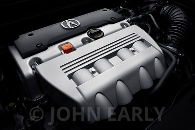 Premium 4-Cylinder Engine With Logo