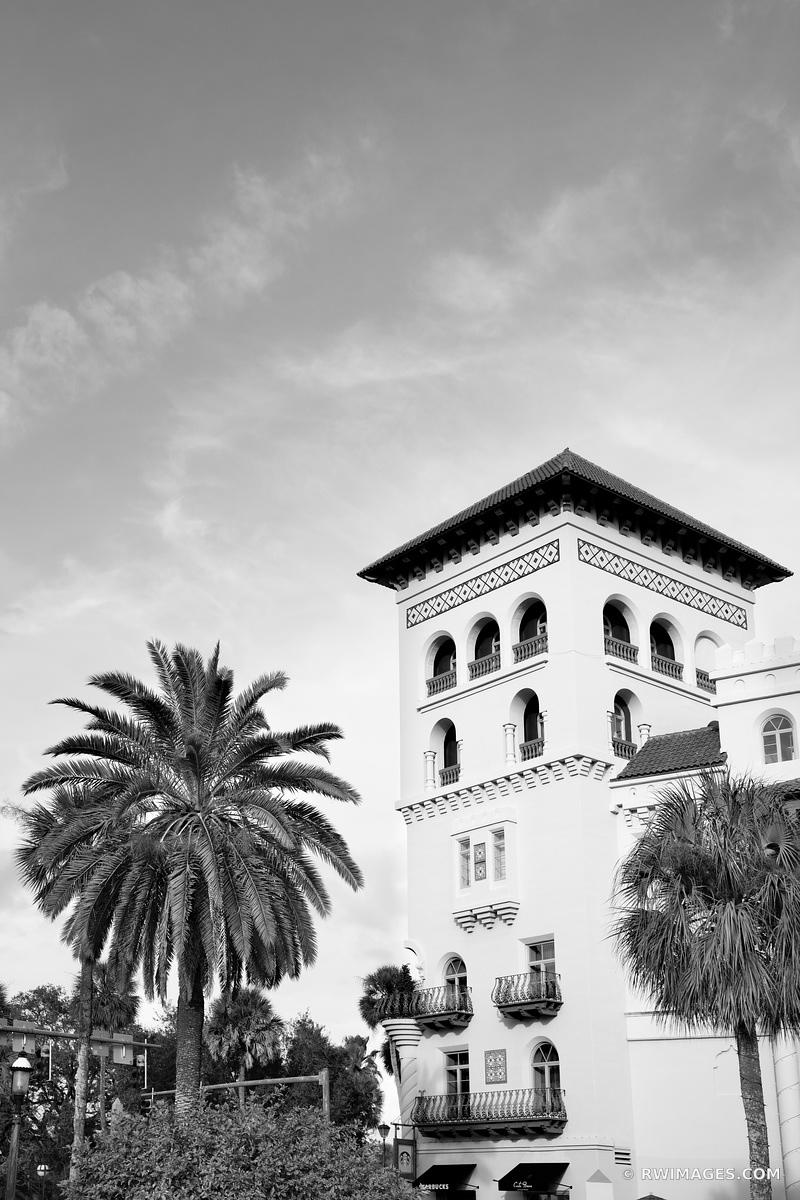 CASA MONICA HOTEL ST. AUGUSTINE FLORIDA BLACK AND WHITE