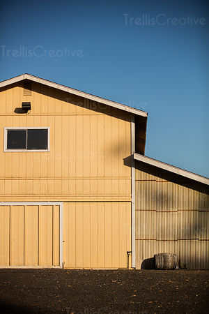 Facade of winery building, Carneros, Napa Valley, Napa County, California, USA.