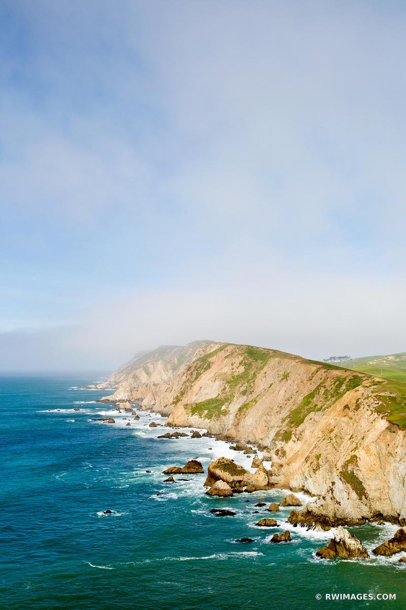 POINT REYES HEADLANDS VIEW FROM CHIMNEY ROCK TRAIL POINT REYES NATIONAL SEASHORE CALIFORNIA