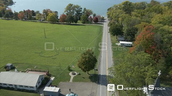 Canandaigua Village Drone View