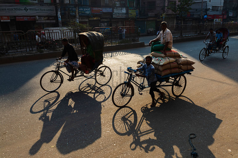 Rickshaw Taxis in the Early Morning