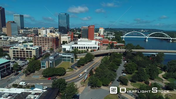 Downtown Little Rock Arkansas Drone Aerial View
