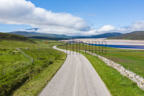 Road along the Kyle of Durness