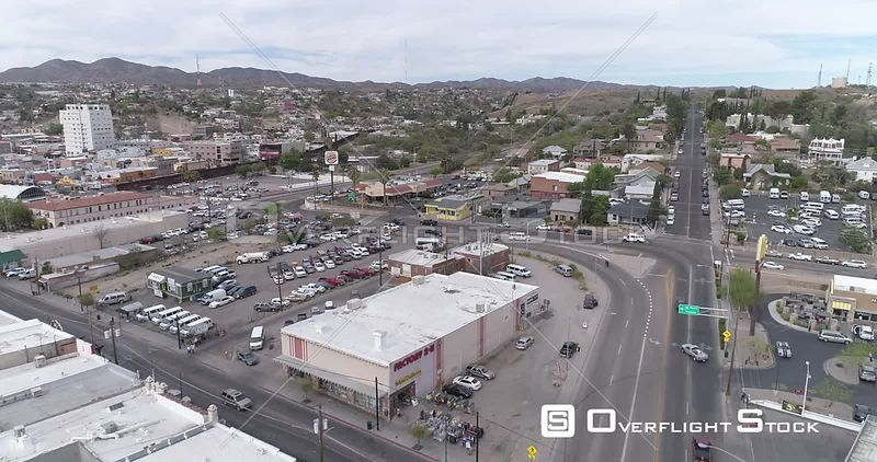 Drone Video Border DeConcini Port of Entry Nogales Arizona Sonora Mexico