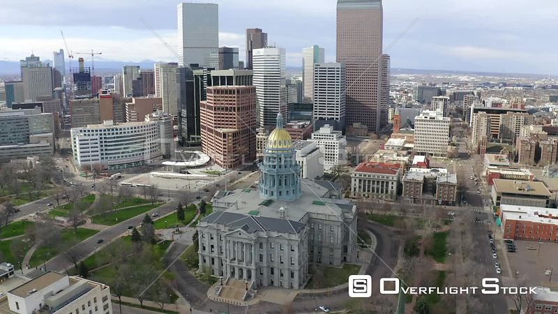State Capital Building  Denver Colorado During the Covid-19 Pandemic