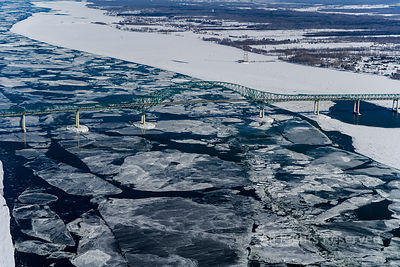 Winter Ice on the St Lawrence Trois-Rivieres Quebec Canada