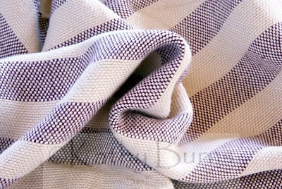 Plum Striped Bamboo Viscose Throw Blanket