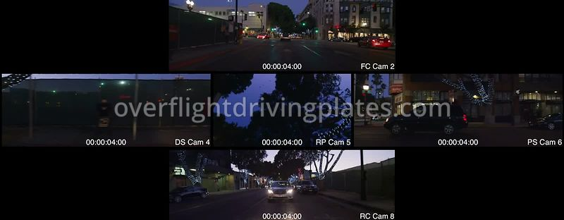 Downtown Twilight  Pasadena California USA - Driving Plate Preview 2012