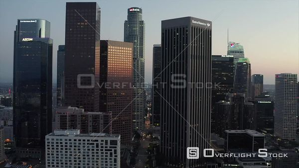 DTLA Downtown Los Angeles California Drone View