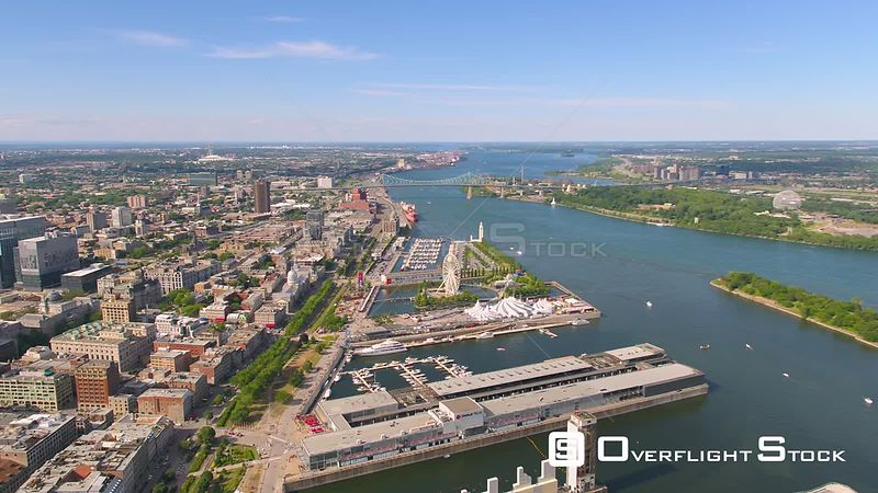 St Lawrence Seaway and Shipping Docks Montreal Quebec Canada