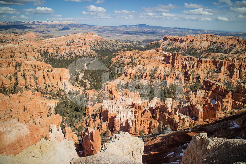 Red Rocks Hoodoos in Inspiration Point at Bryce Canyon National Park, Utah