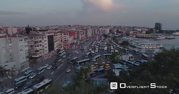 Aerial View Kadikoy Over Buses Turkey