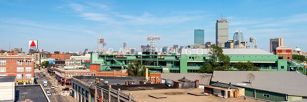 Boston Skyline Panorama with Fenway Park and Citgo Sign