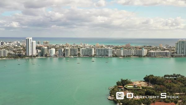 Residential Condominiums Along Biscayne Bay in Miami Beach