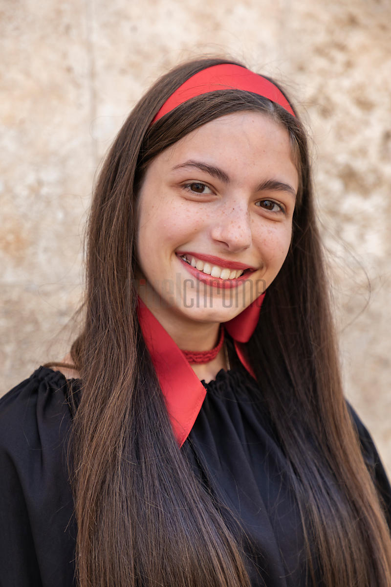 Portrait of Folkloric Dancer Valentina Greco