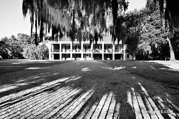 DESTREHAN PLANTATION NEAR NEW ORLEANS LOUISIANA BLACK AND WHITE