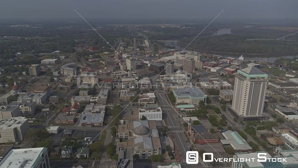 Montgomery Alabama Flyby ot the Capitol Building and Dexter Avenue towards Alabama River  DJI Inspire 2, X7, 6k