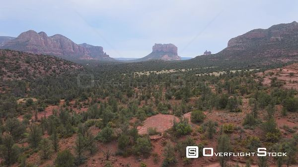 Red Sandstone Landscape Drone View Sedona Arizona