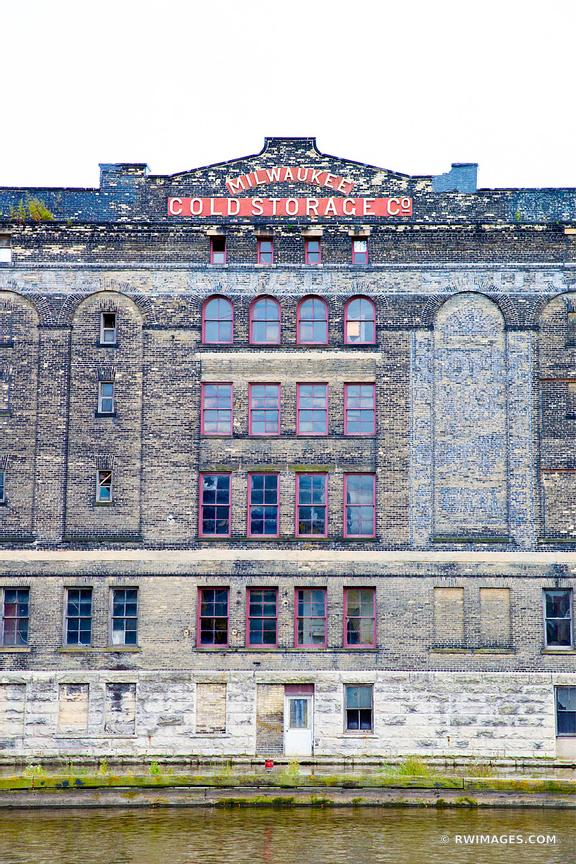 MILWAUKEE COLD STORAGE BUILDING HISTORIC THIRD WARD MILWAUKEE WISCONSIN COLOR VERTICAL