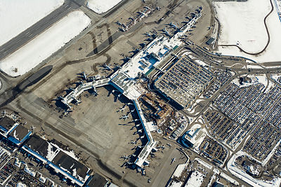 Montreal Airport Durval Quebec Canada in Winter