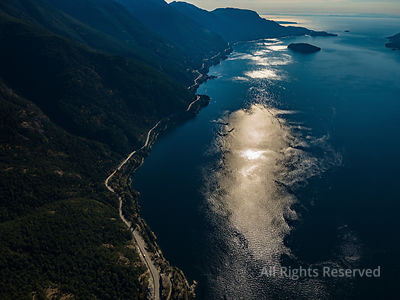 Sea to Sky Highway and Howe Sound