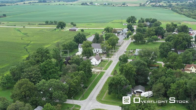 Small town residential and rural areas, Cumming, Iowa, USA