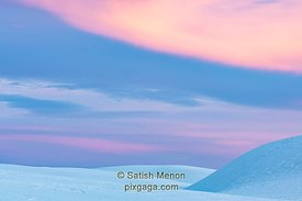 White Sands and Pink Sky, White Sands National Park, New Mexico, USA