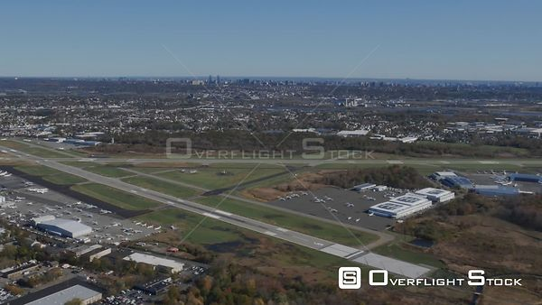 Teterboro KTEB Airport New Jersey Footage Shot from Helicopter