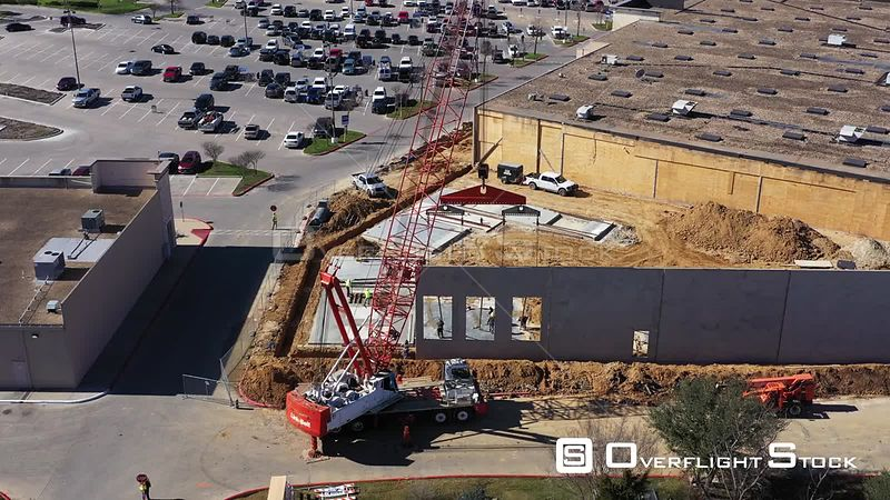 Anchoring a Panel, Building a Concrete Exterior Wall, Bryan, Texas, USA